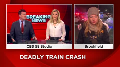 One dead after Amtrak train collides with vehicle in Brookfield